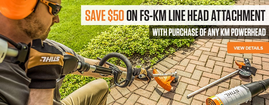 Save $50 on FS-KM Line Trimmer Attachment